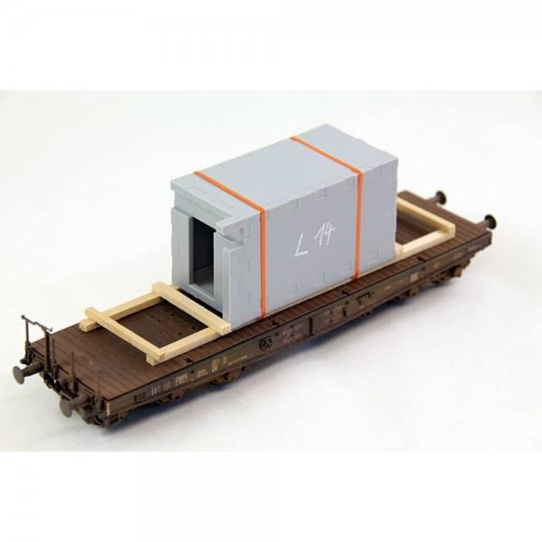 "H01328 - Bauer - Betonfertigteil ""Kabine"", grau"