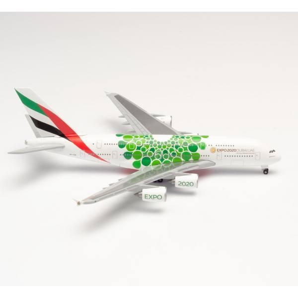 "533522 - Herpa - Emirates  Airbus A380 ""Expo 2020 Dubai / Sustainability"""