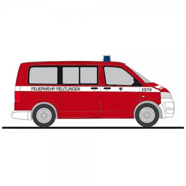 """53646 - Rietze - VW T5 `10 Bus - MTW """"Feuerwehr Reutlingen"""""""