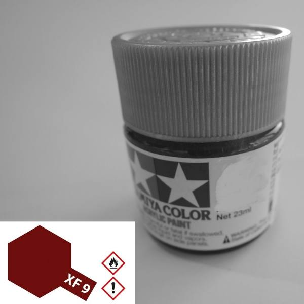 81309 - Tamiya - Acrylfarbe 23ml, Rumpf rot matt XF-9