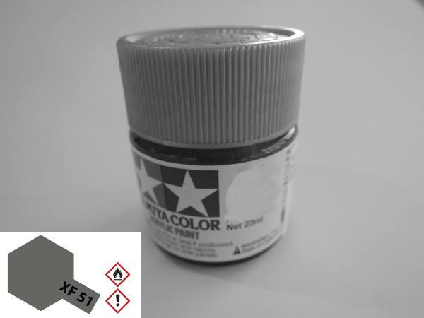 81351 - Tamiya - Acrylfarbe 23ml, Khaki Drab (grau braun) matt XF-51