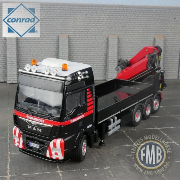 410235 - Conrad - MAN TGX XXL Pritschen-LKW mit Ladekran - Mammoet -