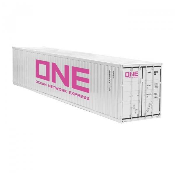 978/03 - NZG - 40ft. Container, weiß - ONE