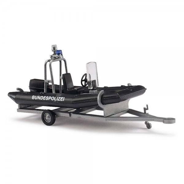 """59952 - Busch - Anhänger mit Motorboot """"Bundespolizei"""""""