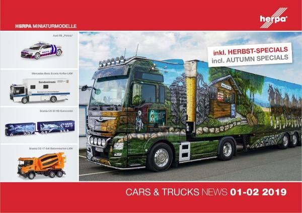 208598 - Herpa - Prospekt Neuheiten Cars & Trucks Januar/Februar 2019