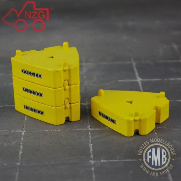 NZG - Liebherr Gewichte vom LTM 11.200-9.1 - RAL 1021 - Rapsgelb