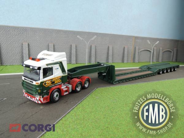 CC12203 - Corgi - Scania R mit 5achs King Tieflader - Eddie Stobart LTD -
