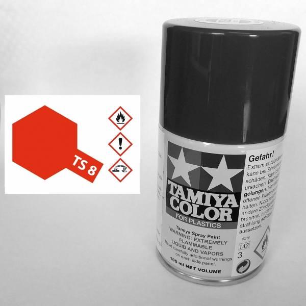 85008 - Tamiya - Italienisch rot glänzend 100ml , Sprühdose TS-8