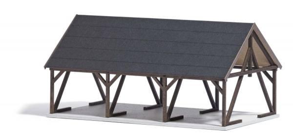 1677 - Busch - Holzlager mit Zubehör, Bausatz