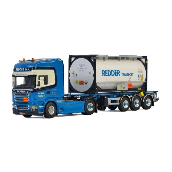 01-2836 - WSI - Scania R Streamline TL 4x2 mit 3achs Trailer und 20ft Tankcontainer - Redder - NL