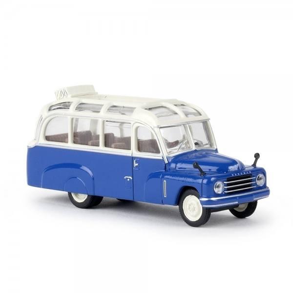 58181 - Starline - Hanomag L 28 Lohner-Bus offenes Dach (1950-1960), weiß/enzianblau
