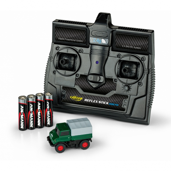 500504126 - Carson - Mercedes-Benz Unimog U406 , Forst mit Fernbedienung 2.4 G