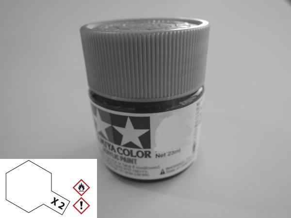 81002 - Tamiya - Acrylfarbe 23ml, weiß glänzend X-2