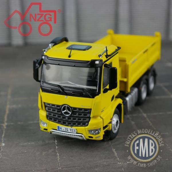 923/60 - NZG - Mercedes-Benz Arocs 6x4 Meiller Kipper, gelb