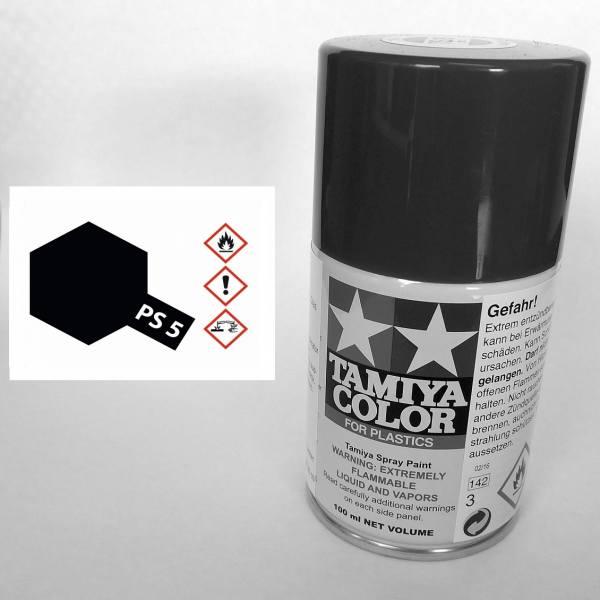 86005 - Tamiya - schwarz Polycarbonat 100ml , Sprühdose PS-5