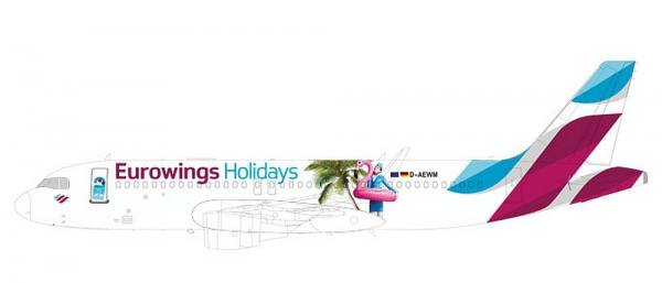 """611893 - Herpa - Eurowings Airbus A320 """"Holidays"""" - 1:200"""