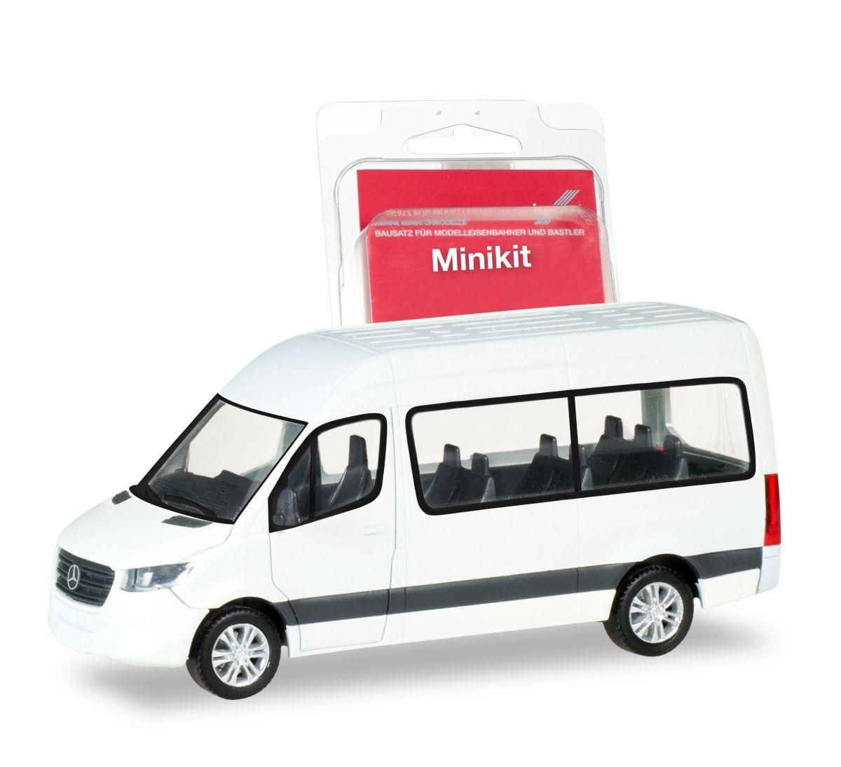 Mercedes-Benz Sprinter `18 Kasten Hochdach herpa 013475 MiniKit weiß 1:87 ...