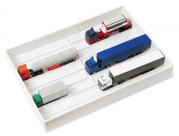 029384 - Herpa - LKW-Sammelbox, weiß, Abmessungen: 40cm x 28cm x 5,5cm