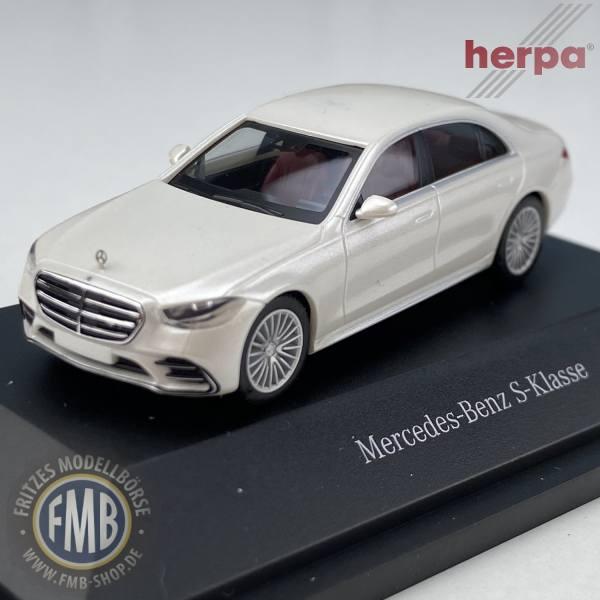 B66960630 - Herpa - Mercedes-Benz S-Klasse (V223), designo diamantweiß bright - PC