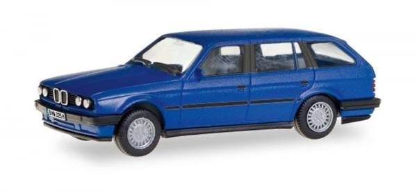 028714 - Herpa - BMW 325 Touring E30, blau mit Kennzeichen (H-Edition)