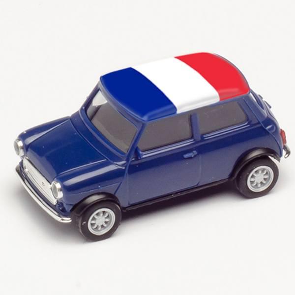 """420648 - Herpa - Mini Cooper, dunkelblau """"EM 2021 - Frankreich"""""""