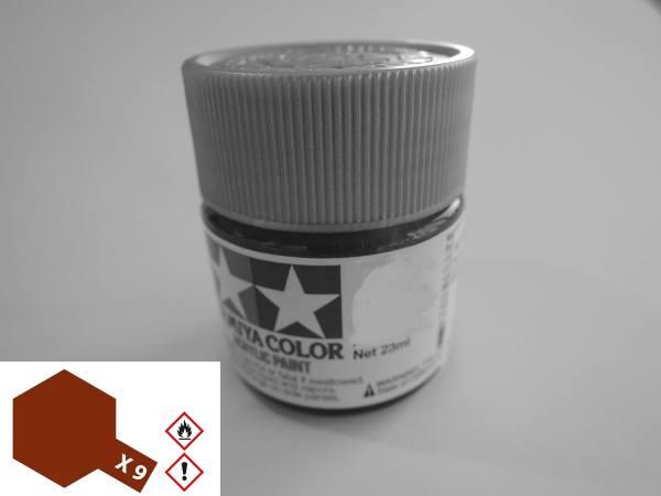 81009 - Tamiya - Acrylfarbe 23ml, braun glänzend X-9