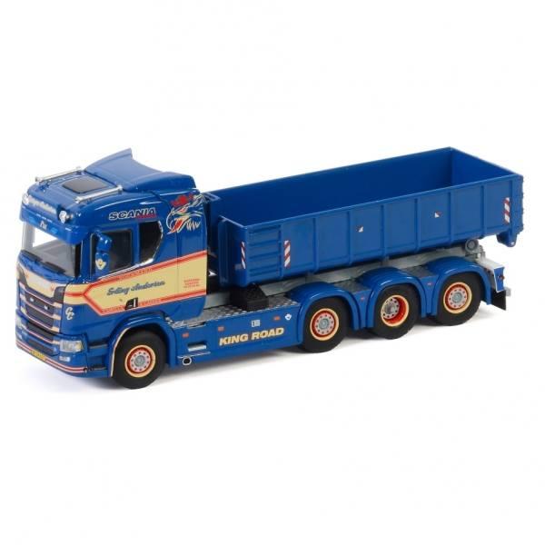 01-2826 - WSI - Scania  R CR20N 8x2 mit Hakensystem und 15cbm Container - Erling Andersen  - DK -
