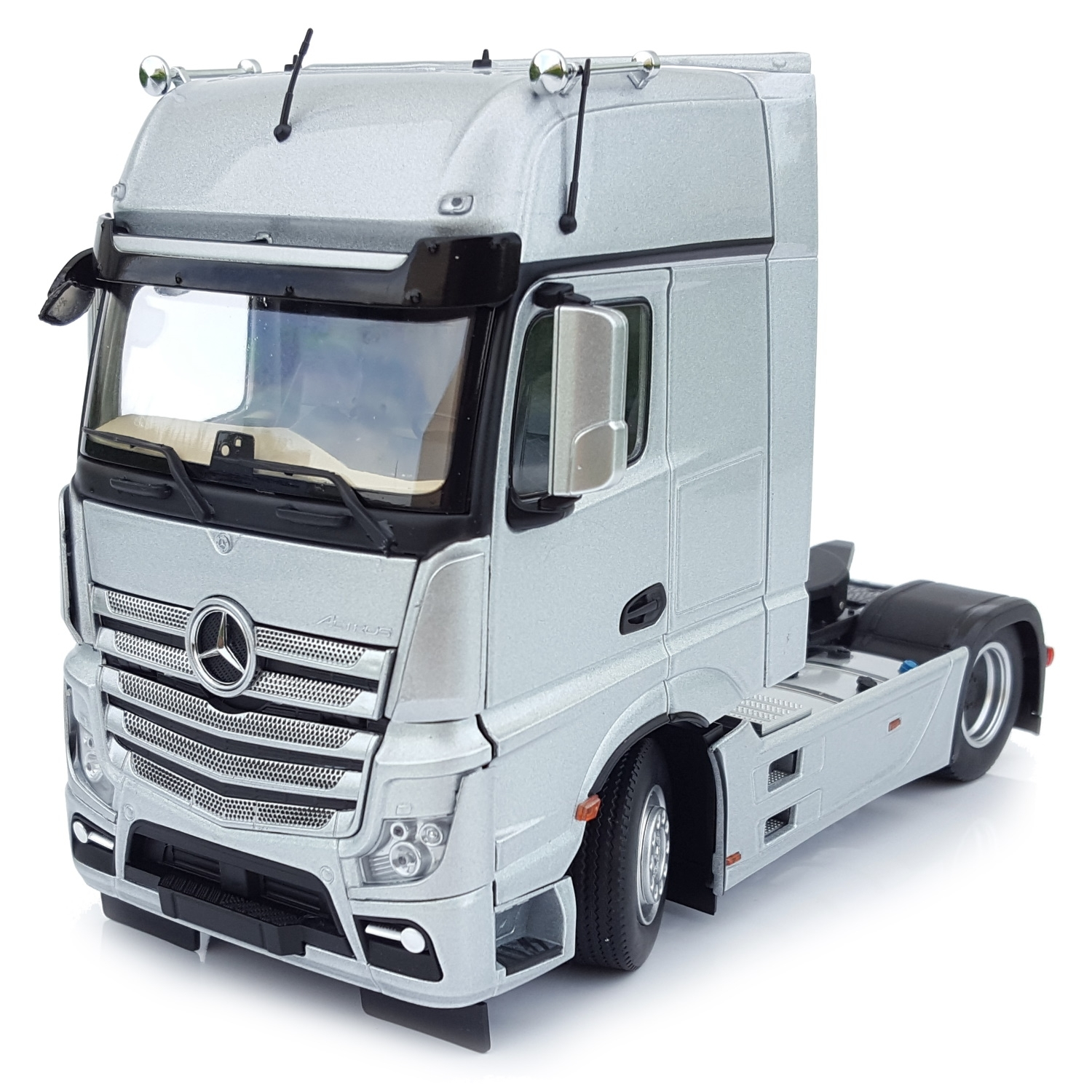 1911-03 - MarGe Models - Mercedes-Benz Actros GigaSpace 4x2 truck tractor,  silver