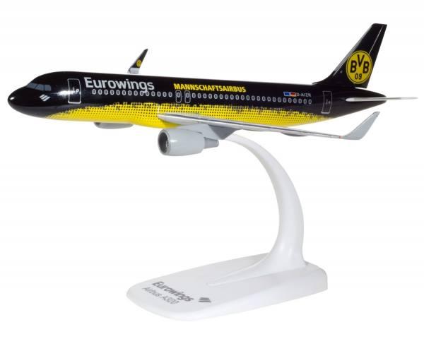 "611312 - Herpa - Eurowings  Airbus A320 ""BVB Dortmund Mannschaftsairbus"""