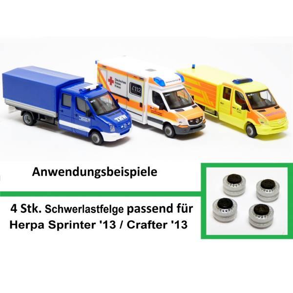 90021 - Mickon - Schwerlastfelge passend für Sprinter `13 / Crafter `13 - 4 Stück