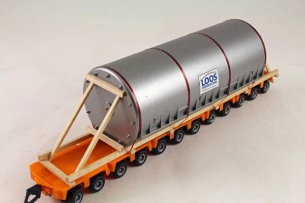 LKW1008 - Bauer - Tankbehälter -silber- 200mm lang