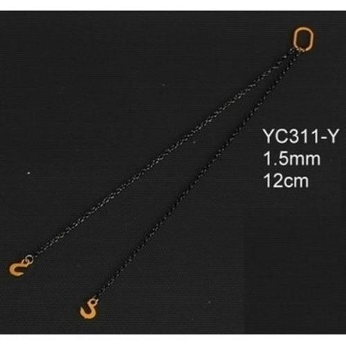 YC311-R - YCC - Anschlagketten 12cm mit 2 Haken 1.5mm, rot