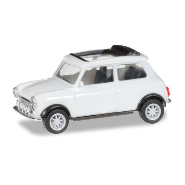 028592 - Herpa - Mini Cooper Rolldach + Zusatzsscheinwerfern -reinweiß-