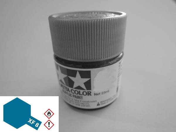 81308 - Tamiya - Acrylfarbe 23ml, blau matt XF-8