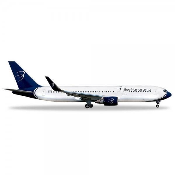 """531559 - Herpa - Blue Panorama  Boeing 767-300 """"Citta di Milano"""" - 1:500"""