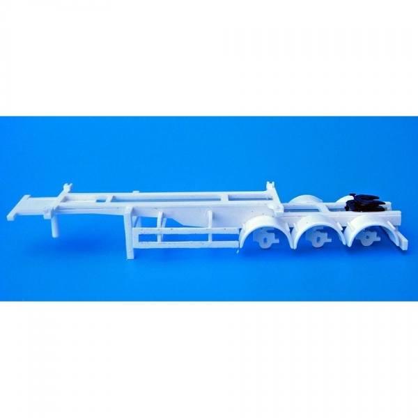 100144 - Bausatz - 3achs Auflieger mit Sattelplatte für Tankcontainer, unlackierter Kunststoff
