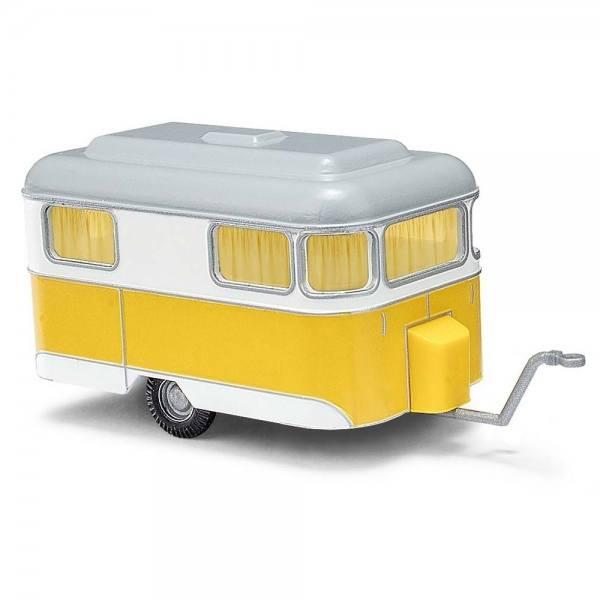 51701 - Busch - Nagetusch Wohnwagen, gelb