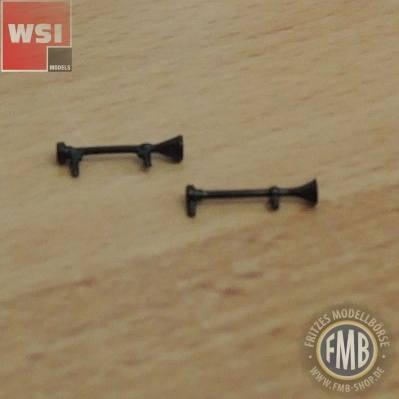WSI - Drucklufthörner 14mm (2 Stück) schwarz