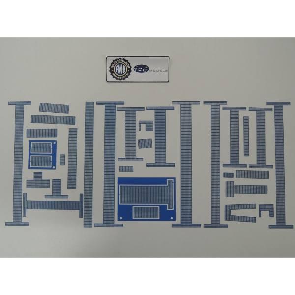 YC660-3 - YCC - Ätzteile für Liebherr LR 1600/2 Laufgitter in blau