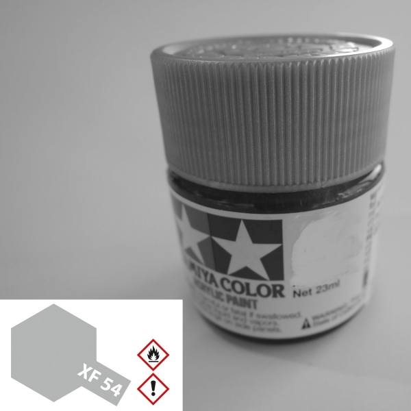 81354 - Tamiya - Acrylfarbe 23ml, seegrau dunkel matt XF-54