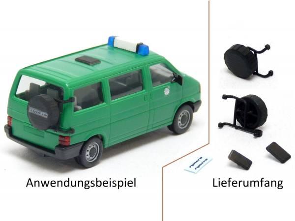 90030 - Mickon - Syncro Reserverad und Dachluke für VW T4 Bus / Kasten - 2 Set