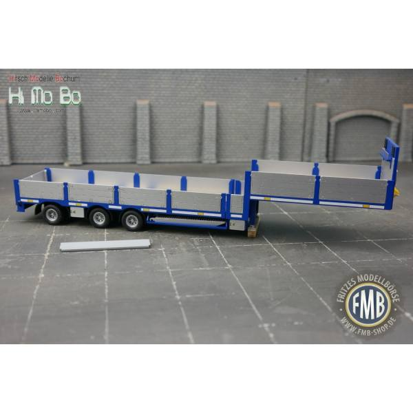 1007024B - Himobo - norwegischer 3achs Tele-Auflieger - blau