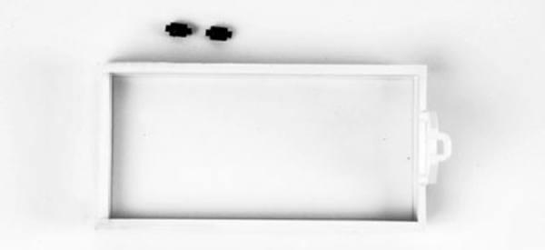 083300 - Herpa - TS Abrollmulde flach, kurz, weiß -2 Stück