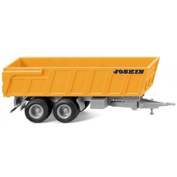 038816 - Wiking - Joskin Muldenkipper, orange/silber