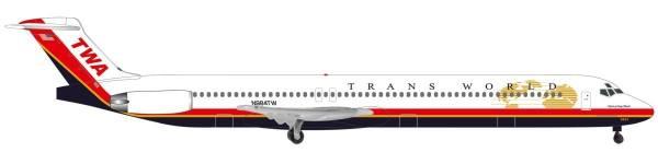 "533737 - Herpa - TWA McDonnell Douglas MD-83 ""Spirit of Long Beach"""
