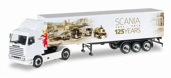 "306447 - Herpa - Scania 143 SL Koffer-Sattelzug ""125 Jahre Scania"""