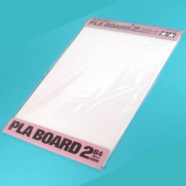 70146 - Tamiya - Kunststoffplatte 2,0mm (2 Stück) 257x364mm, weiß