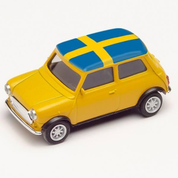 """420723 - Herpa - Mini Cooper, gelb """"EM 2021 - Schweden"""""""