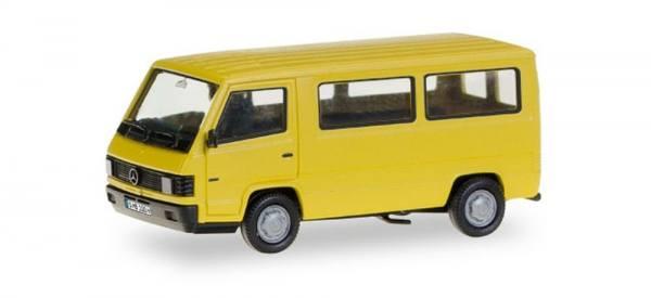 028806 - Herpa - Mercedes-Benz 100 D Bus, gelb mit Kennzeichen (H-Edition)
