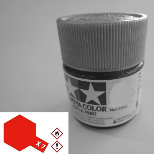 81007 - Tamiya - Acrylfarbe 23ml, rot glänzend X-7
